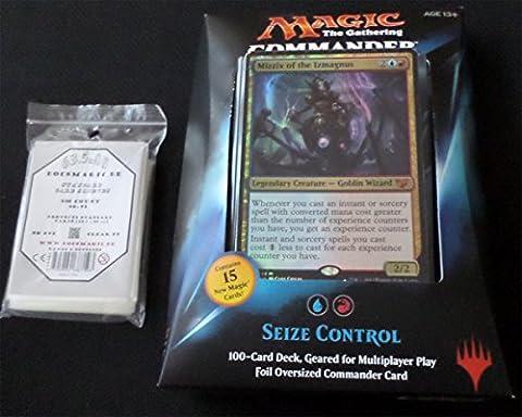 Commander 2015 Deck Seize Control - English + 100 Docsmagic.de Card Games Sleeves - Magic: The Gathering