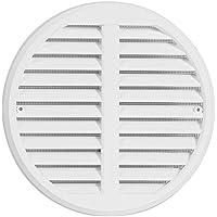 Rejilla de ventilación ajustable de plástico para tubos de 125–160mm Deck maß175mm con protección contra insectos