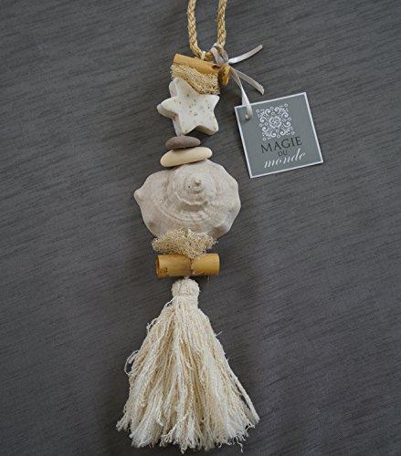 Cadeau savon décoratif pour un parfum maison doux et naturel : guirlande de savon et plâtre parfumé à la fleur de coton pour salle de bains, chambre, toilettes - éléments végétaux naturels - pas ch
