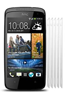 5 in 1 (Pack of 5) LCD Screen Protector/ Cover/ Guard /Film Includes Cleaning Cloth For HTC Desire 500