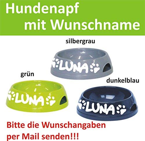 hundeinfo24.de Hundenapf mit Name Fressnapf Gr. L — Wunschangaben separat als Mail