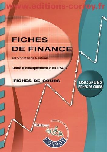 Fiches de finance UE 2 du DSCG : Fiches de cours