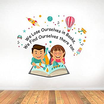 Rawpockets 'Lose Ourselves Books Quotes' Wall Sticker (PVC Vinyl, 0.99 cm x 64.99 cm x 75 cm)