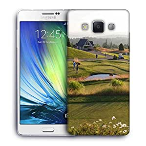 Snoogg People Playing Golf Designer Protective Phone Back Case Cover For Samsung Galaxy A7