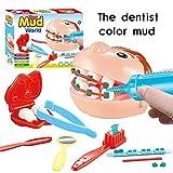 XuBa Arztkoffer 9 Teile / Satz Zahnarzt Spielzeug Set, Überprüfen Zähne Ton Schlamm Modell Set, Pädagogisches Rollenspiel Simulation Lernspielzeug Für Kinder