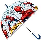 Disney Paraguas de Spiderman con campana transparente de 50 cm. aproxi..