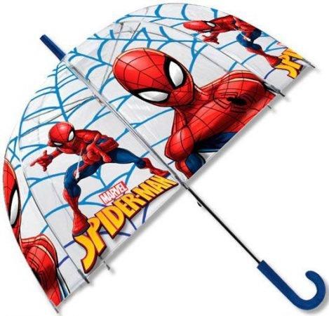 Disney–Spiderman paraguas transparente campana, mv15283, 19'
