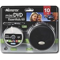 Memorex 8cm 1.4GB Mini DVD Camcorder Essentials Kit - Storage Accessory Kit With 10 Mini 8cm DVD-R