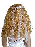 LadyMYP© Haarkranz/ Haarbänder/ Haarschmuck/Kopfschmuck mit vielen Perlen, Blütenm und Strass , Hochzeit, Kommunion, Blumenkind