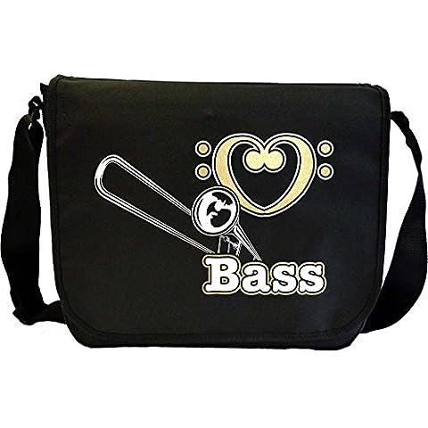 Trombone Love Bass - Sheet Music Document Bag Borsa Spartiti