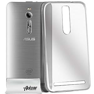 Avizar - Coque de Protection Ultra Fine Second Skin 0.3mm - Asus Zenfone 2 ZE550ML (5,5 pouces) - Transparent