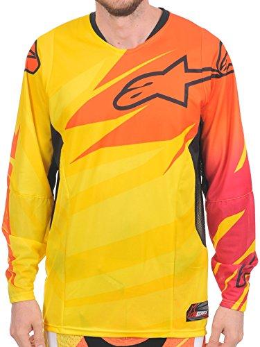 Alpinestars Techstar Jersey, Farbe gelb-orange-rubine, Größe M