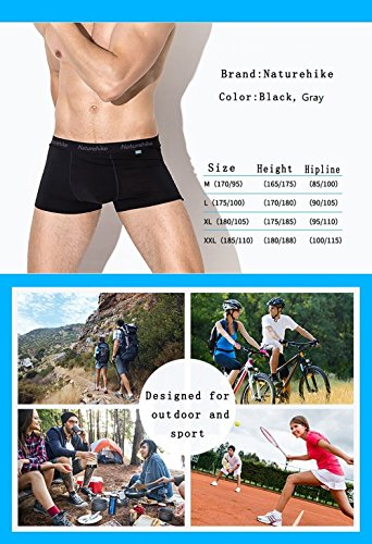 Naturehike Coolmax Herren Basin Boxer Boxershort Unterhose Manner Atmungsaktiv Sport Unterwasche Black