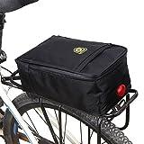 Mlec Tech per bicicletta elettrica sedile posteriore tronco borsa per sella da bicicletta mountain bike accessori con fanale posteriore