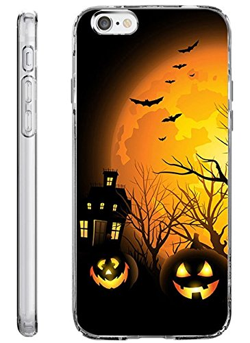 iPhone 6S Plus Hard Cover 14 cm Ultra Slim Dünn Happy Halloween, Style-17 (Halloween Behandlung Einfachen Ideen)