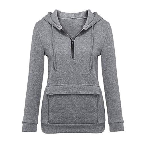 Damen Kapuzenpullover Graphic Sport Hoodie Day.LIN Damen Lose Asymmetrisch Jumper Sweatshirt Pullover Bluse Oberteile Oversize Tops