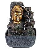 Zimmer-Brunnen Set mit Stromstecker und Pumpe Buddha Kopf