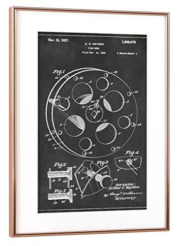 artboxONE Poster mit Rahmen Kupfer 30x20 cm