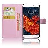 GARITANE Meizu Pro 6 Plus Hülle Case Brieftasche mit Kartenfächer Handyhülle Schutzhülle Lederhülle Standerfunktion Magnet für Meizu Pro 6 Plus (Rosa)