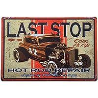 Pósteres Muestra Lata Arte de Cartel Café Placa Vintage Pub Barra Metálica Decoración Motocicleta 35
