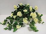 Ziegler Geranie Hängend Seidenblume Kunstpflanze Creme Weiß 45 cm ungetopft 155572CR F17