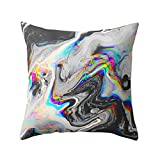 Prevently Brand New Square Fashion Nonwoven Geometric Marble Texture Throw Pillow Case Cushion Cover Sofa Home Decor Removable Washable Decorative Pillowcases (B)