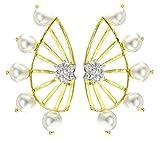 JDX Designer 18K AD Star Earcuff Earring...