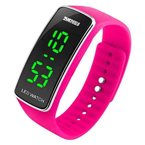 DDLBiz-Uomo-Donna-Moda-silicone-LED-di-sport-del-braccialetto-di-tocco-Orologio-da-polso-digitale-rosa-caldo