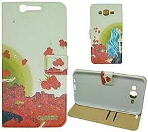 For Samsung Galaxy J7 Flip Cover Case : MACC Designer Fancy Premium Flip Cover Case For Samsung Galaxy J7 - DESIGN22