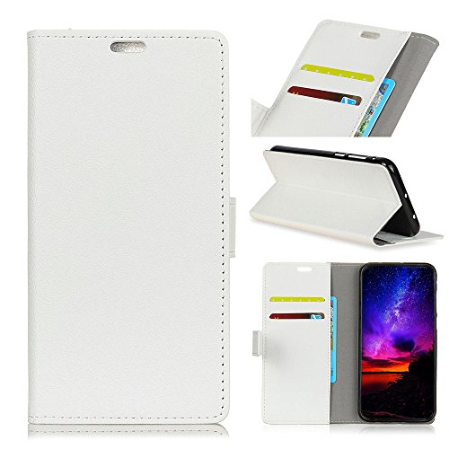 Huawei Mate 20 Lite Hülle,[ Shock Absorbent ] Girls PU Leder Kartenschlitz Brieftasche Hülle dauerhaft Flip Hülle zum Huawei Mate 20 Lite White