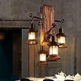 Kronleuchter Licht Shades Deckenleuchte Vintage Kaffee Bar Tisch Persönlichkeit Massivholz Dekorative Kronleuchter - JBP32