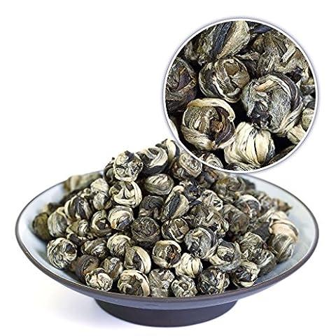GOARTEA 100g (3.5 Oz) Organic Supreme King grade Jasmine Dragon Pearl Ball Loose Leaf Chinese Green TEA VERT