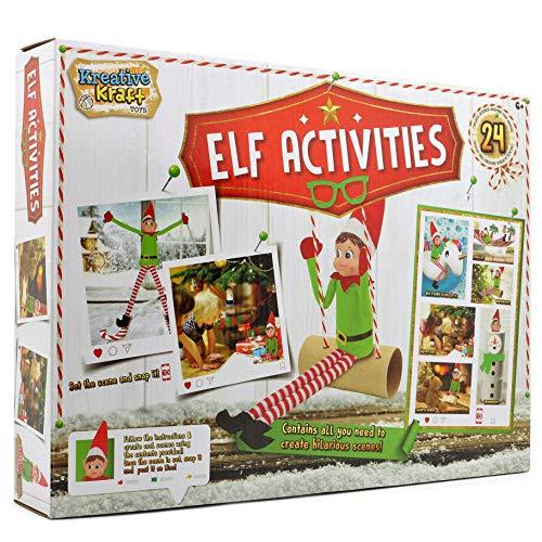 KreativeKraft Elfo Birichino 24 attività Divertenti Calendario Avvento per Bambini Elfo di Natale