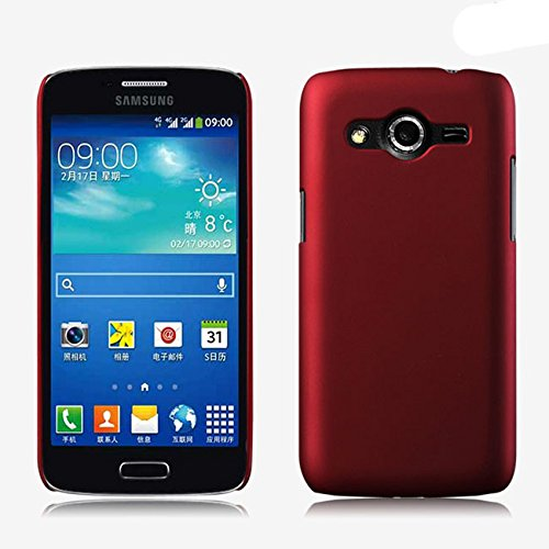 ImagineDesign Rubberised Hard Case For Samsung Galaxy Core 2 SM-G355H (Maroon Wine Red)