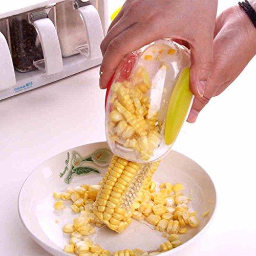 Inovera Plastic Corn Kernel Stripper Peeler Cutter Seeds Remover, White
