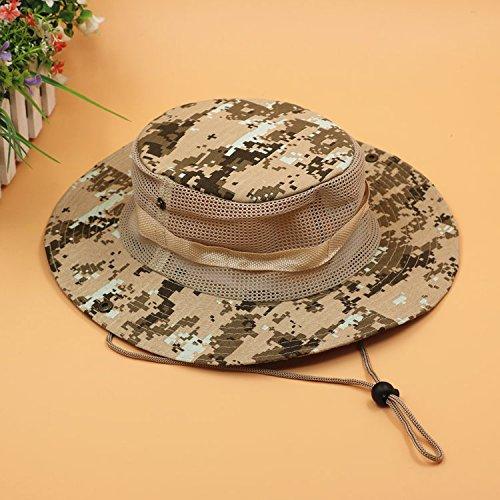 uflage und Cap 1955 atmungsaktiv Angeln cap Stetson hüte Sonnenschutz Hüte im freien Männer, M (56-58 cm), Camouflage gelbe Wüste in der Tarnung Web) (Mann In Den Großen Gelben Hut)