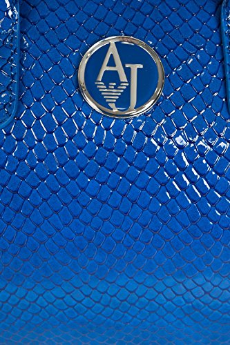 Armani AJ Damen Faux Lackleder Tasche A522av3 88-royal