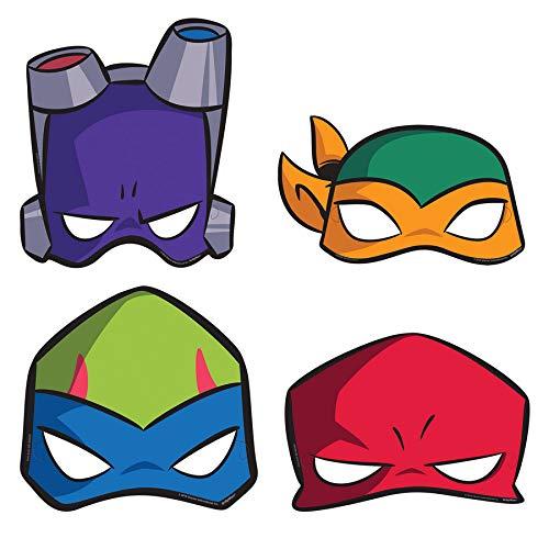 Amscan International Amscan 3600000 Masken für Kinder, Motiv: The Rise of Teenage Mutant Ninja Turtles, 8 Stück