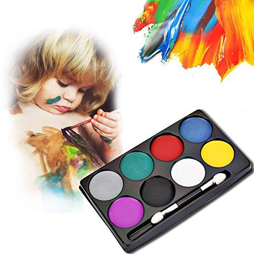 Schminkstifte Yiitay 8 Farben Gesicht Körper Malerei Farbe Öl Malerei Kit Weihnachts Party Cosplay Party Makeup (Crazy Kleidung 8)