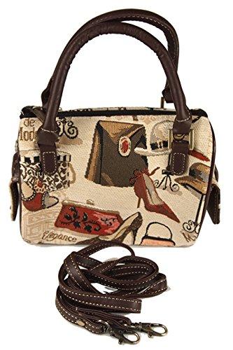 Retrohandtasche (mini) Hut und Schuh Boutiqe im Gobelin-Stil Signare Umhängetasche Tasche Fa. Bowatex -