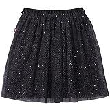 City Threads Girls Tutu Skirt Sparkle Tulle Bubble Mesh Skirt Princess Ballerina Play Sundress Summer Dance Soft Cotton Ballet Party Dress, Black, 6