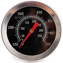 Lezed Termómetro de Horno Acero Inoxidable Termómetro Barbacoa Termómetro de Cocina Carne Termómetro Analógico