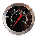 Lezed Grillthermometer Ofenthermometer Bratenthermometer Fleischthermometer Barbecue Thermometer für Garten Grillen BBQ Backofen usw (Schwarz)