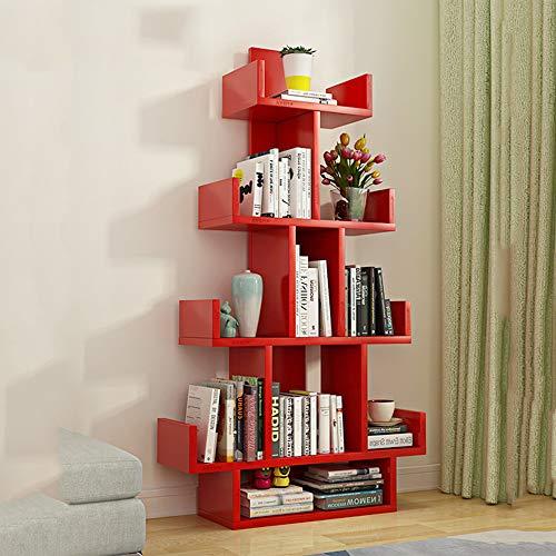 cherregal Display Speicher Organizer Bücherregal Regal für Datensätze Bücher Multifunktionale Lagerung Regal (Farbe : Rot) ()