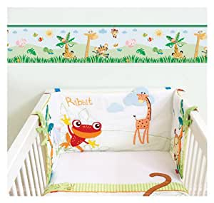 Animals of the Rainforest Self Adhesive Nursery Wall Border
