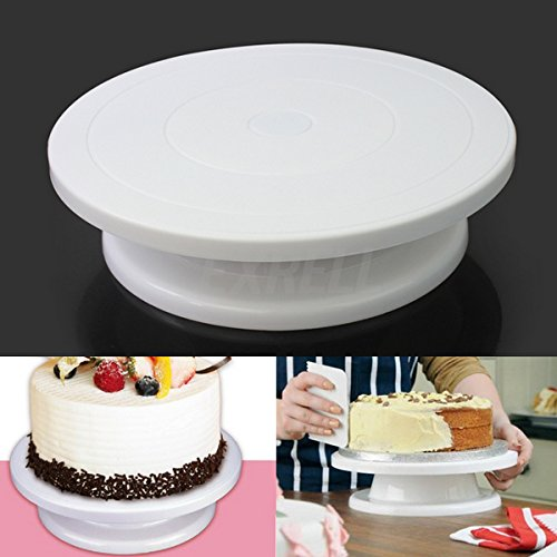 Lgv lève gâteau plateau tournant Cake Design Présentoir pour gâteau décorations plateau oscillant diamètre 28 cm