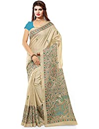 Tagline Women's Cotton Silk Saree With Blouse Piece