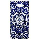 Lusee® Funda de silicona para Sony Xperia M2 Suave Cascara TPU girasol azul