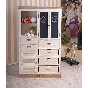 Schubladenschrank, Küchenbuffet, Küchenschrank, Schrank, Buffetschrank für Küchen im Landhausstil und einzigartige Wohnideen, aus Holz mit Kreidetafel - Palazzo Exklusive