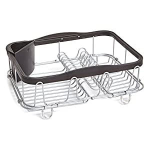 Umbra 1004292-047 Sinkin Multi-Use Dish Rack Black/Nickel, Metal 48.26 x 29.21 x 13.97 cm